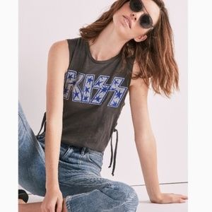 Lucky Brand Women's Kiss Side Lace up Tank XL